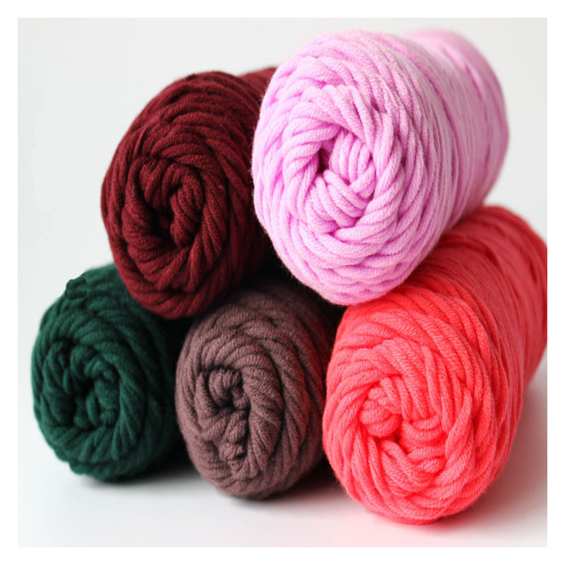 Wholesale 5 Balls 500g/Lot Soft Silk Cotton Fiber Wool Yarns For Kintting Eco friendly laine a tricoter Crochet Handmade Yarn