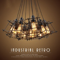 EuSolis Лофт Винтаж подвесной светильник Эдисон Nordic лампа промышленных клетке лампа Hanglamp абажур Ретро Avize Lampenkap Кухня 55