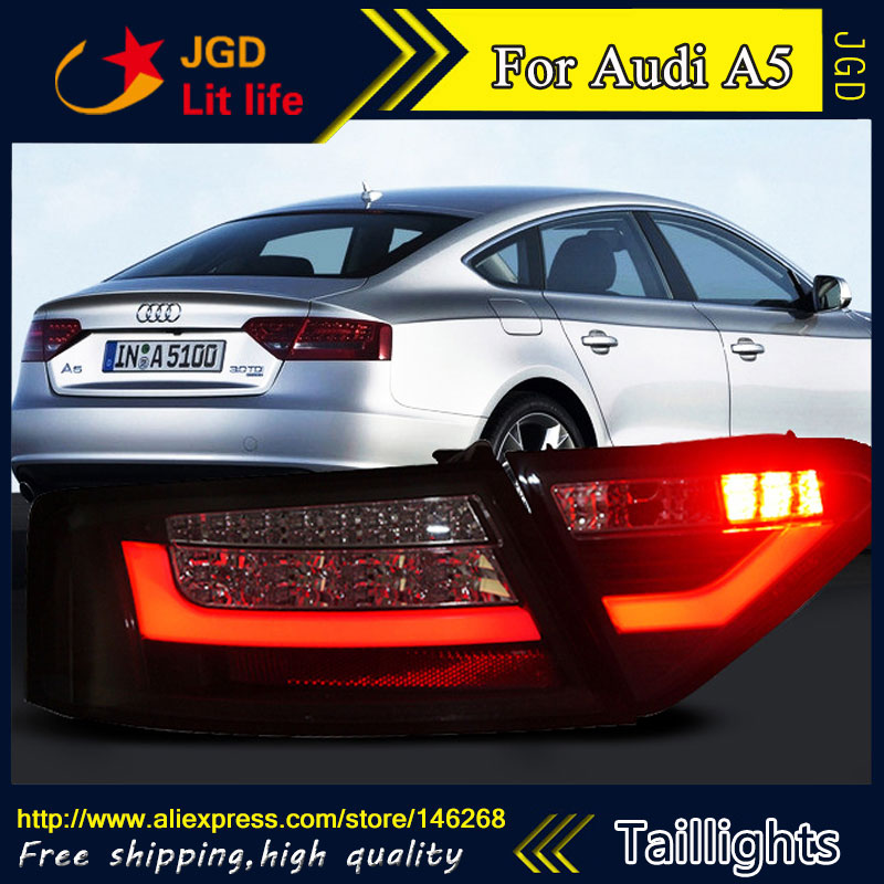 Car Styling tail lights for Audi A5 LED Tail Lamp rear trunk lamp cover drl+signal+brake+reverse car styling tail lights for hyundai santa fe 2007 2013 taillights led tail lamp rear trunk lamp cover drl signal brake reverse