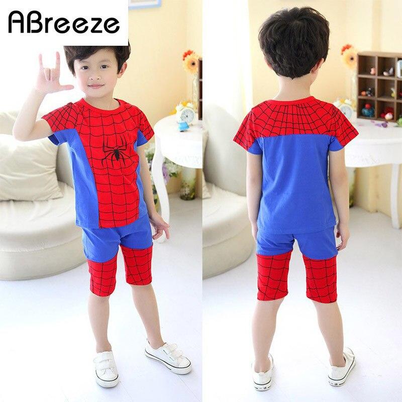 7 8 years boys children summer clothing sets hero style <font><b>spiderman</b></font> tee <font><b>shirt</b></font> pants <font><b>mask</b></font> 3 pieces summer holiday sets