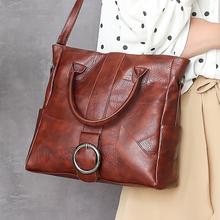 Leather splice Handbag for Women