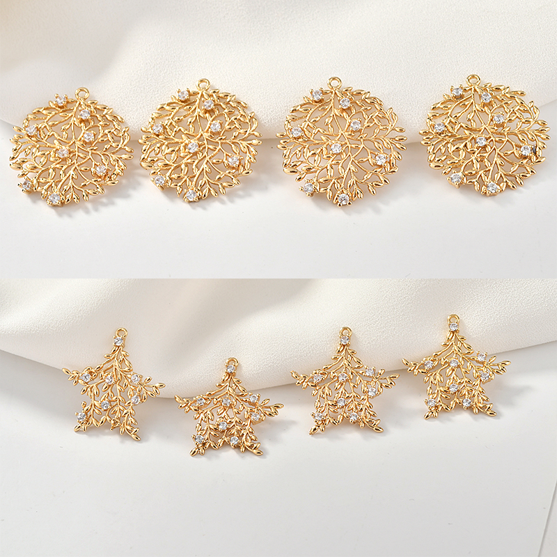 5 Strand 24k Gold Plated Female Fashion Designed Copper Casting Beads Jewelry