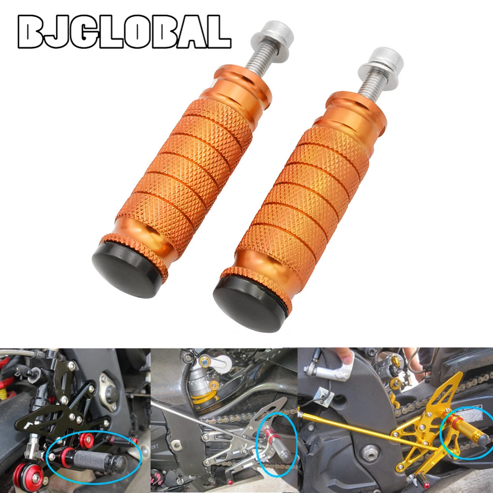 BJGLOBAL Motorcycle Foot Rests Foot Pegs Pedals Rear Set Pedals For KTM EXC 250 450 Duke 125 200 250 390 690 M8 Bolts