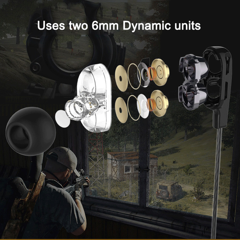 Langsdom D4 2DD Double Dynamic Earphone Headset with Mic fone de ouvido Gaming DJ Game Headphone for iPhone xiaomi Computer