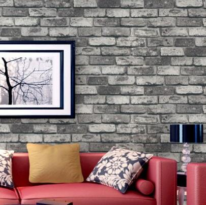 beibehang 10M Roll Dark Grey Realistic Real Look Brick/Stone Vinyl Textured Background 3d Wallpaper papel de parede papier peint мозаика l antic colonial frame brick dark 10x20 28 5x31 1