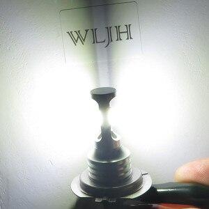 Image 2 - WLJH 2x błąd canbus bezpłatne Led H7 żarówka do lampy przeciwmgielnej silnik samochodu auto ciężarówka jazdy światła do jazdy dziennej H7 LED żarówki 12V 24V dla samochodów