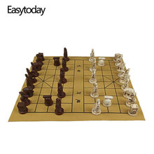 Easytoday китайские шахматные игры Синтетическая кожа шахматная
