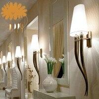 Criativo levou lâmpada de parede contratada hotéis chifre lâmpada de parede sala de Jantar sala de estar do quarto da cabeça de uma cama|creative led wall lamp|led wall lamp|wall lamp -