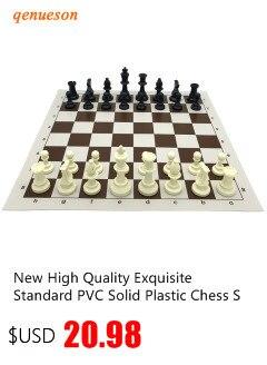 portátil abs plástico xadrez conjunto de jogos