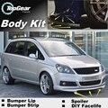 Deflector de Labios Lip Bumper Para Opel Zafira A/B/C para Chevrolet Zafira Tourer Spoiler Delantero Falda Para Los Ventiladores/Kit de Carrocería tira