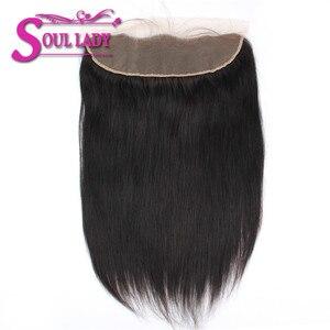 Image 5 - 3 ربطات من الشعر البشري بنسبة 100% مع ربطة من الدانتيل للجبهة من سول ليدي مع ربطات من الأذن للأذن من الدانتيل للجبهة مع ربطات