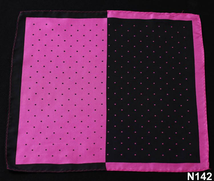 N142 HN14K1 Hot Pink Black Polka Dot 33cm