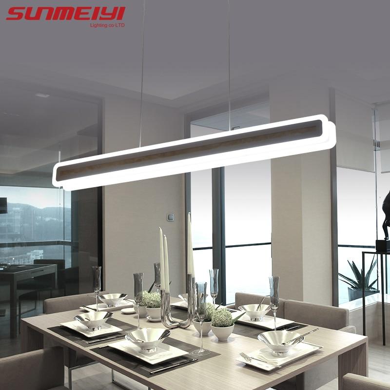 Lampes de pendentif LED modernes luminaires acryliques mode salon chambre Restaurant décoratif salle à manger cuisine pendentif lumières