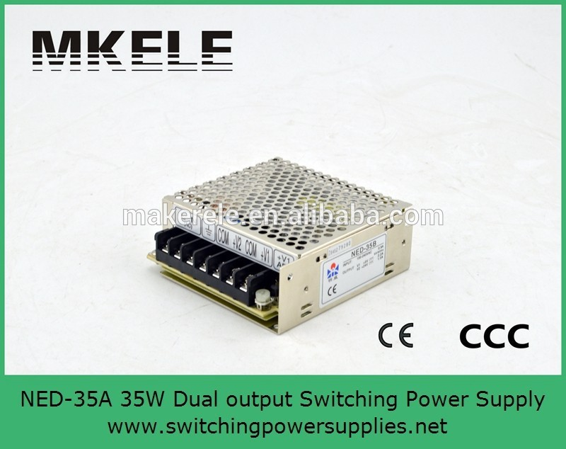 35w dual output ned-35a [ Official Authorization ] Wenzhou Mingwei Switching Power Supply NED-35A 35W 5V4A 12V1A two outputs styb wenzhou instrument st818a 1k 03 80 12 00 0 temperature controller 4 20ma output
