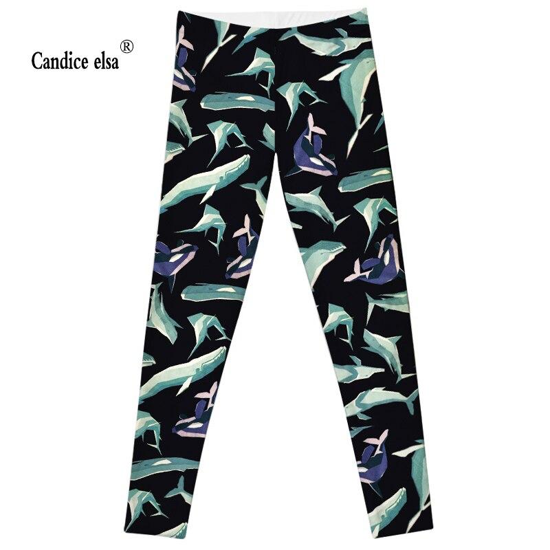 CANDICE ELSA wanita legging workout legging kebugaran celana hiu paus - Pakaian Wanita