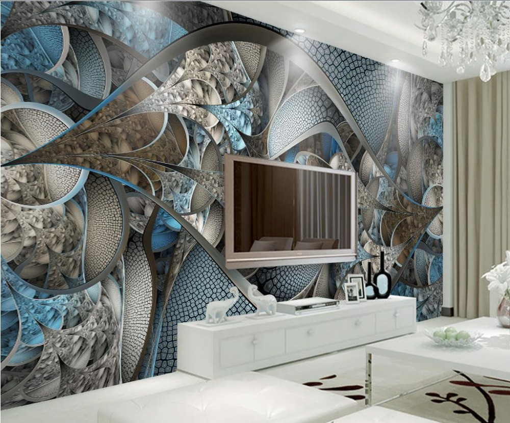 European style luxurious Wallpaper Modern glass TV Backdrop Wallpaper Fashion Mural Wallpaper Abstract 3D Photo Wall Murals book knowledge power channel creative 3d large mural wallpaper 3d bedroom living room tv backdrop painting wallpaper