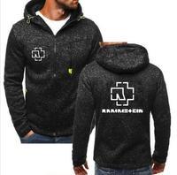 Fashion jacket German chariot Rammstein heavy metal rock band around hoodie long sleeve warm zipper shirt casual sports hoodie