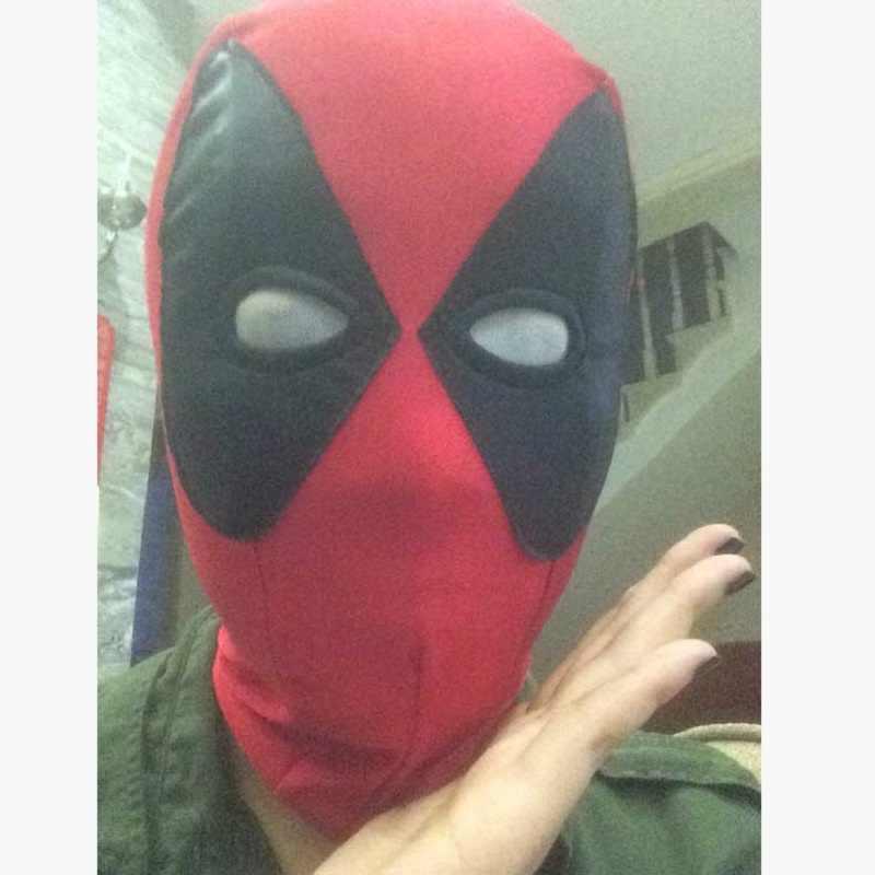 1 pc Filme Deadpool Maravilha Quente 2 Máscara Toy Action Figure Anime Deadpool Cosplay Máscaras Traje X-men Chapéus Capô Pescoço Rosto Cheio brinquedos