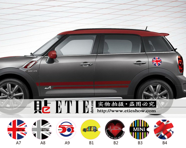 Etieshow factory direct hot sale car sticker vintage 50 usa uk flag vinyl sticker printing