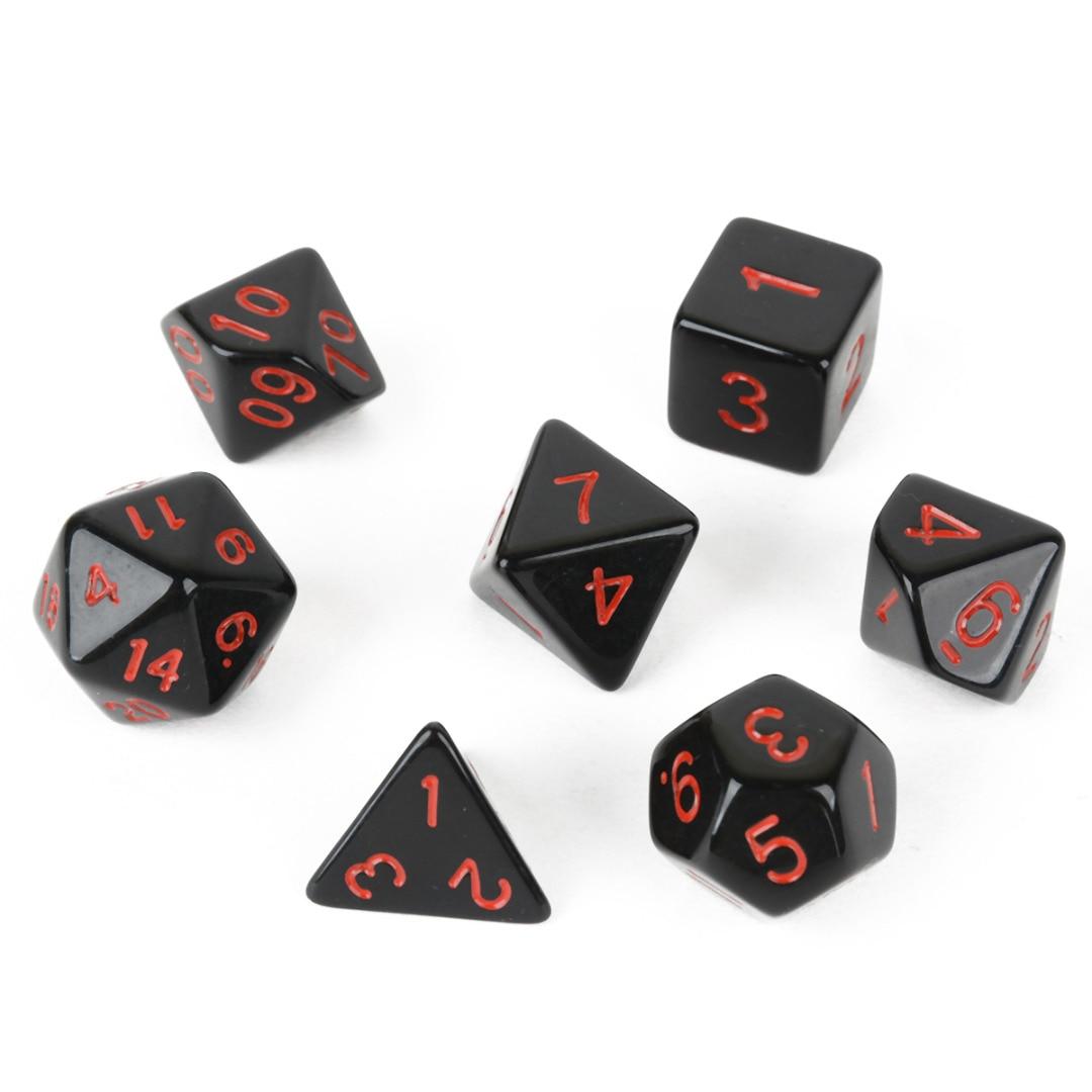 Terbaru 7 Pcs / Bag Acrylic multi-sisi TRPG Papan Permainan Dadu D4-D20 untuk Hiburan Dungeons and Dragons Bermain Game