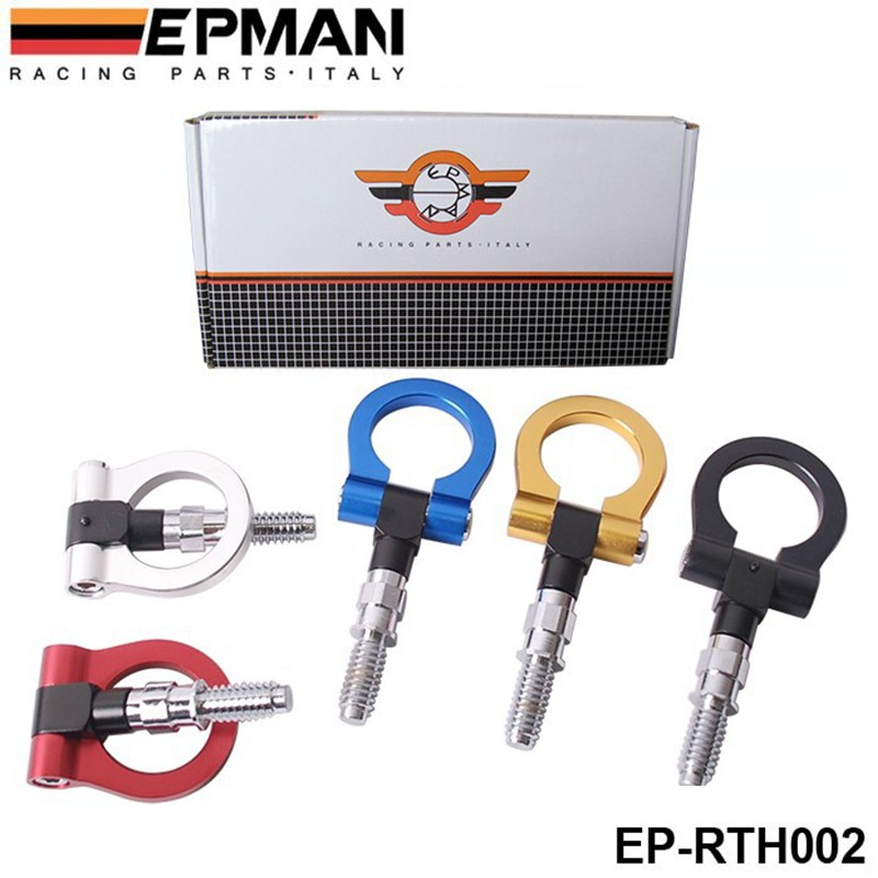 AUTOFAB - EPMAN Racing Billet Aluminum Tow Hook Front Rear For BMW European Car Trailer(Bule/Red/golden/Black/silver) AF-RTH002
