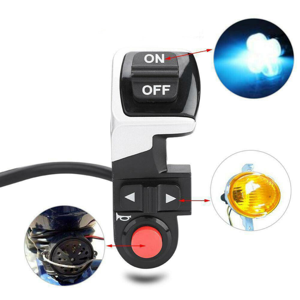 3 In 1 For Scooter E-bike Handlebars Switch Headlight Horn Turn Signals Front Lamp Electric Bicycle Switch For Bike Scooter