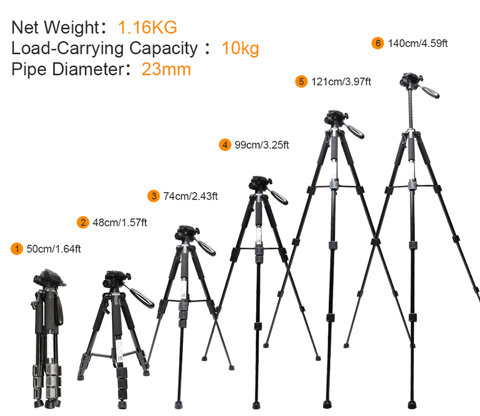 XEAST Multi-function Travel Camera Tripod 56