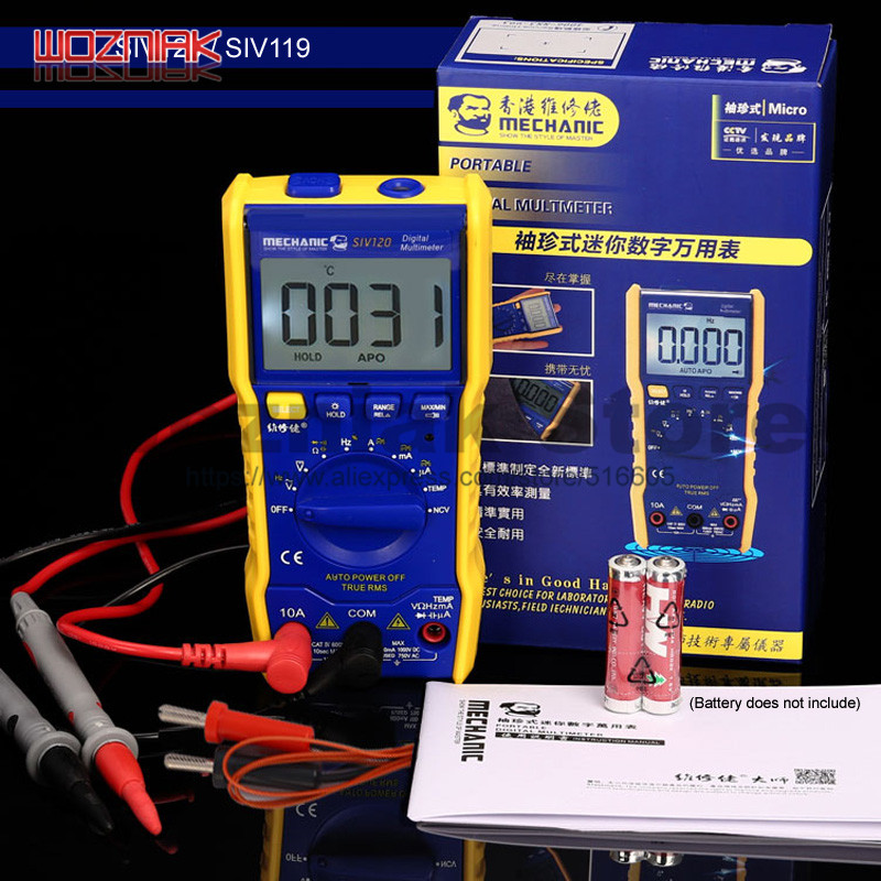 MECHANIC Fully automatic Mini multimeter electrician maintenance mini digital display universal watch SIV series yx360trn multimeter old electrician with