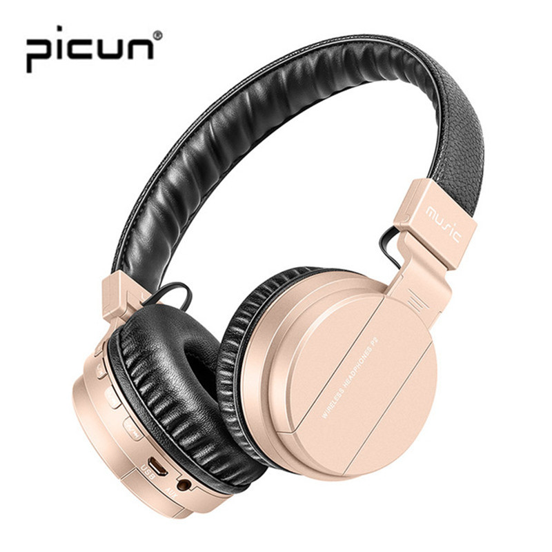Original Picun P2+ Wireless Bluetooth Headphones Over Ear Headset Bluetooth 4.1 MP3 FM Running Headsets For sony for xiaomi good quality original zealot b19 led screen stereo headset bluetooth headphones headband headsets with fm tf for mp3 player