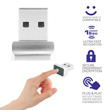 الألومنيوم USB صغير قارئ بصمات الايدي محمول بصمة تحديد ويندوز مرحبا تشفير ويندوز 8 10 وحدة دونغل