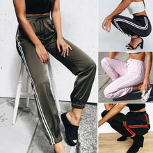 2019 New Fashion Women Sexy Pant High Waist Zip-up Plaid Sweatpant Casual Pencil Trousers zip up tapered plaid pants