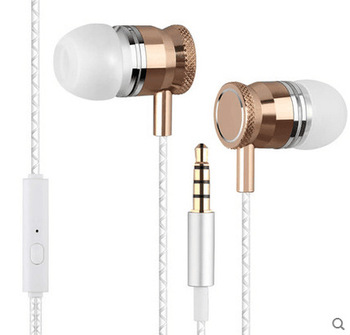 Universal Wired 3.5mm In-Ear Stereo Bass Earphones Headset With Microphone Earphone Headphone for iphone Samsung Xiaomi Huawei