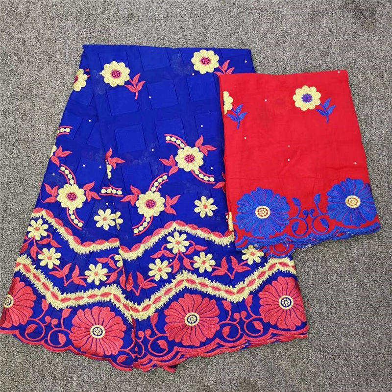 7 yards africain suisse coton dentelle tissu broderie bleu suisse Voile dentelle Dubai suisse Voile dentelle suisse pour Garment-CHE30