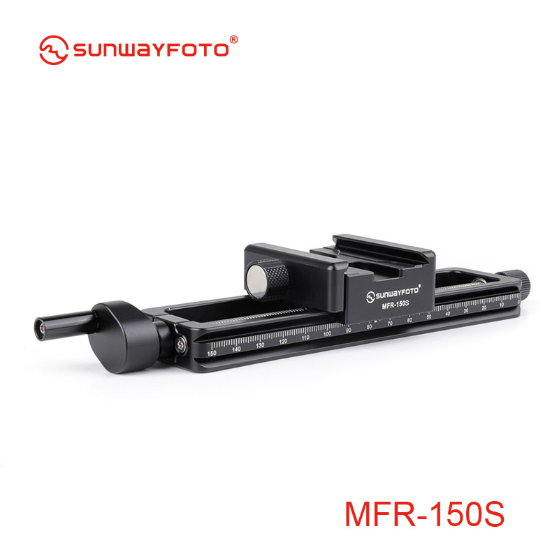 SUNWAYFOTO MFR-150s Camera Accessories Tripod Head Macro Photography  Focus Macro Fotografie  Statief  Focusing Rail Slider fotomate lp 02 200mm movable 2 way macro focusing rail slider black