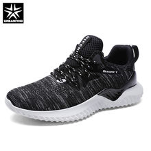 URBANFIND Breathable Light Sneakers Fashion Black White Shoes Big Size 39-46 New Brand Men Casual Shoes Autumn Winter Footwear(China)