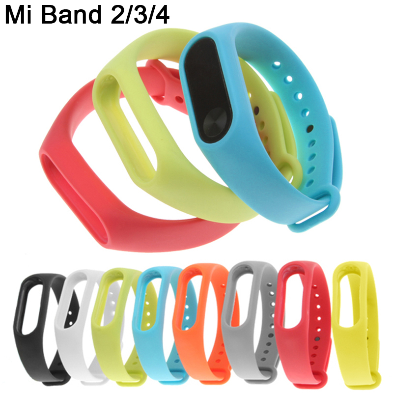 Galleria fotografica Silicone Wrist Strap on My Xiomi Mi Band 3 Straps for Xiaomi Mi Band 4 3 2 M4 M3 M2 Band2 Band3 Band4 Watch Bracelet Accessories