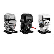 Star Wars Series 41619 Darth Vader 41620 Storm White Soldiers Action Figure Toy BrickHeadz Building Blocks Toys For Children(China)