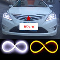 2x 60cm LED Daytime Running Light Angel Eye Changeable Turn Signal Light Parking lamp For mercedes amg w202 w203 w204 w205 w124