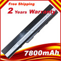 New 7800 mAh Hot Replacement laptop battery for ASUS K42 K52 A52 A52F A52J A31-K52 A32-K52 A41-K52 A42-K52 Free Shipping