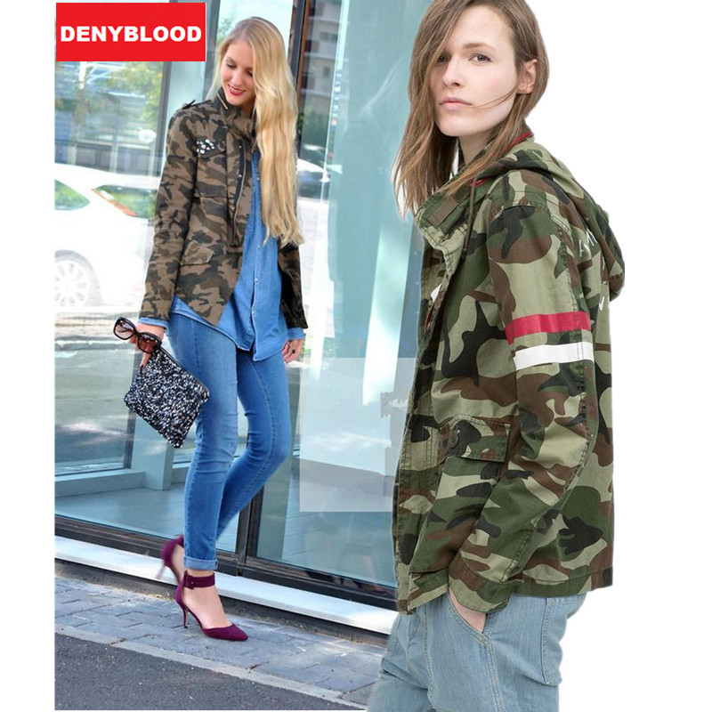 Army green camouflage coat