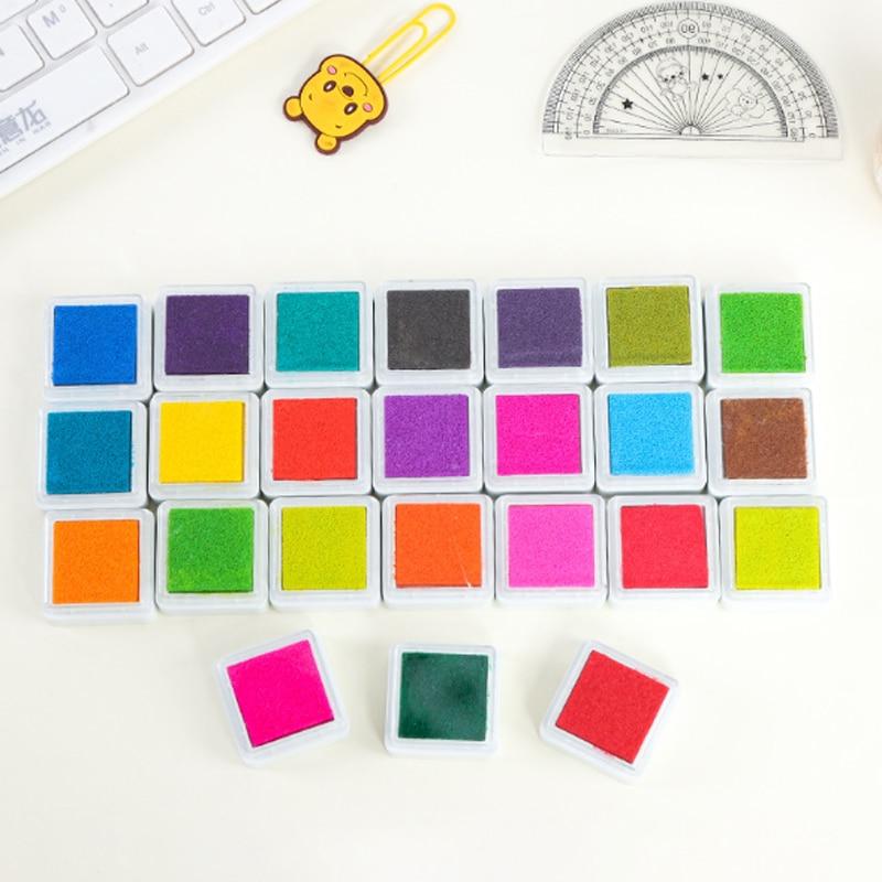 24pcs/set Colorful Inkpad Children's Toy DIY Fingerprint Painting Mud Vintage Crafts Ink Pad For Kids Scrapbooking Accessories