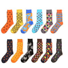 PEONFLY 12 pairs/lot Trendy Star cactus Combed Cotton Socks Harajuku Street Hip Hop