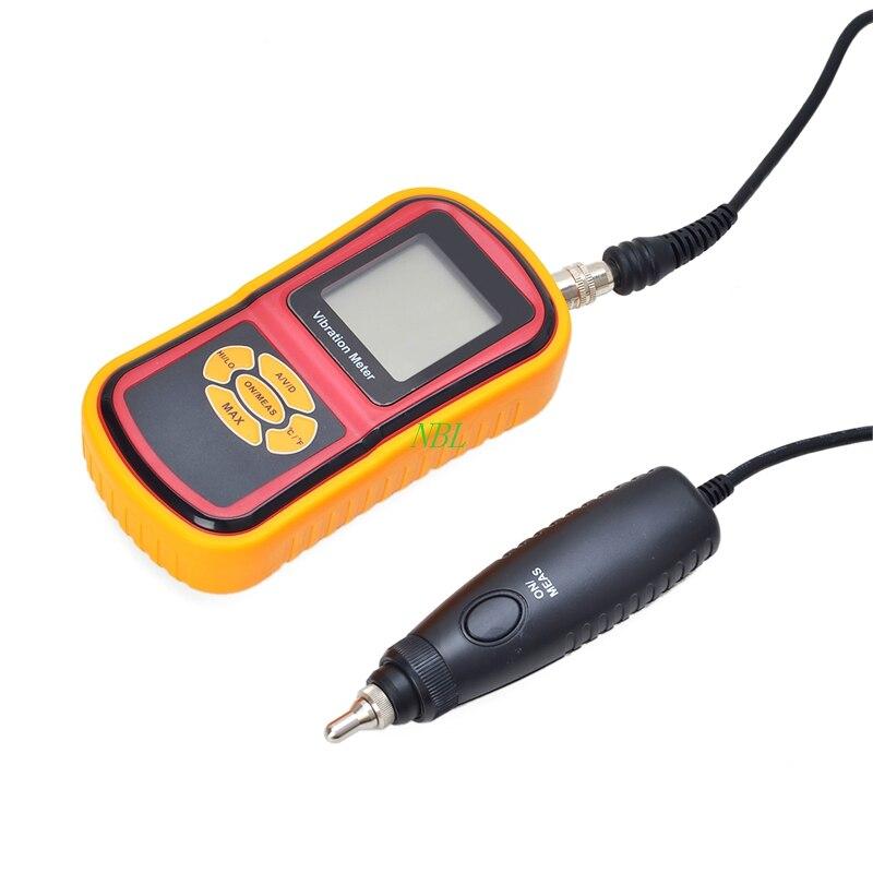 Numérique Vibration Meter 0.1 ~ 199.9 m/s2 Portable Électronique Vibrometer Analyzer Accélération de Vitesse de Déplacement Testeur