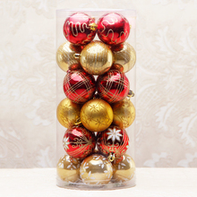 2016 24pcs/ lot Christmas Tree Decor Ball Bauble Pendant Hanging Xmas Party Ornament Home Christmas Decoration R065