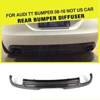 Carbon Fiber / FRP Rear Bumper Guard Lip Diffuser Spoiler for Audi TT 8J Standard Bumper 2008 2009 2010