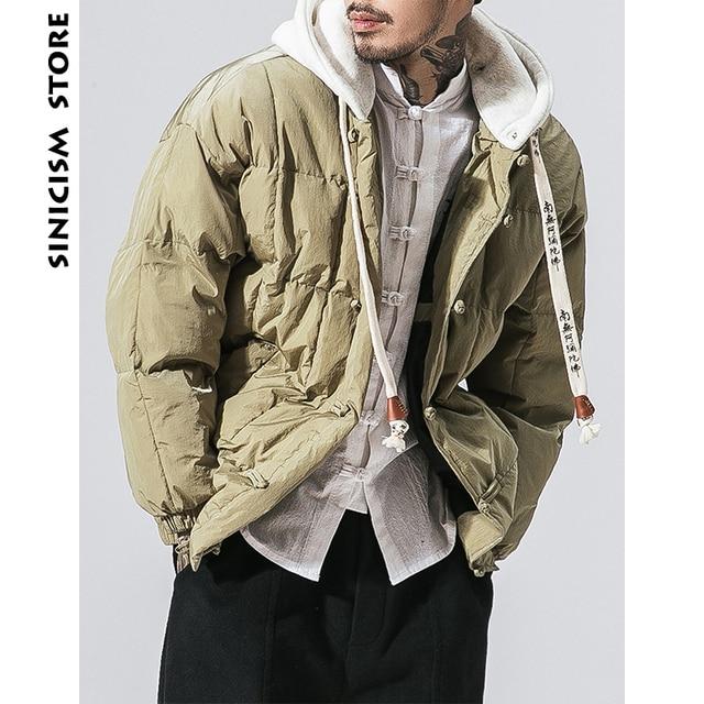 Big Promo Sinicism Store Men Winter Puffer Jacket 2018 Mens Colorful Hooded Jackets Coats Black Parkas Male Casual Hiphop Outerwear Parka