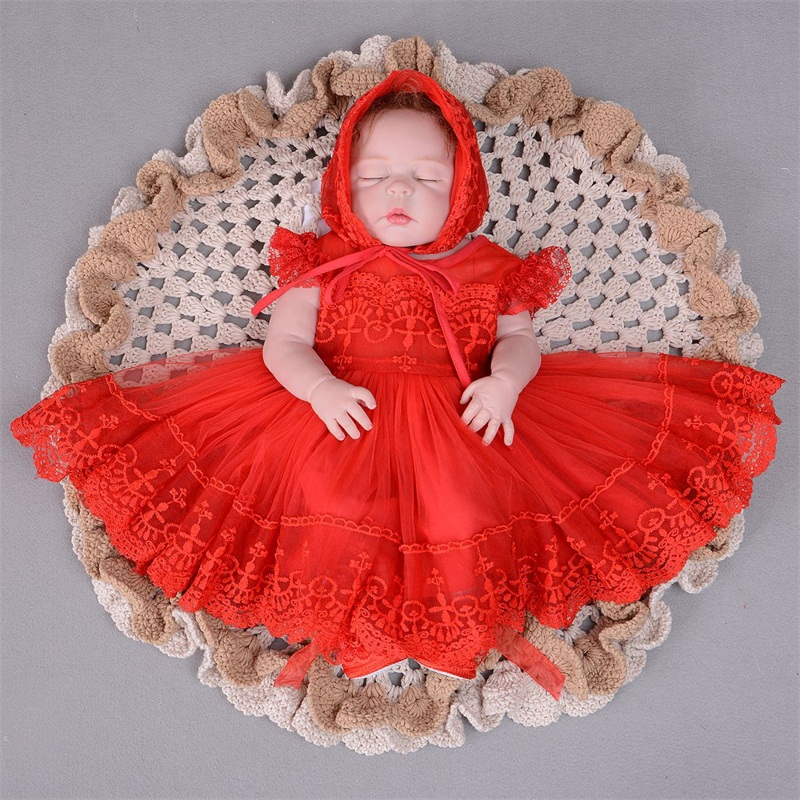 Red And White Lace Wedding Dress: Dropshipping Baby Girl Clothes Lace Princess Dress White