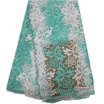 high quality african cord lace fabric water soluble cord lace,guipure lace fabric with for nigerian wedding dress multi color