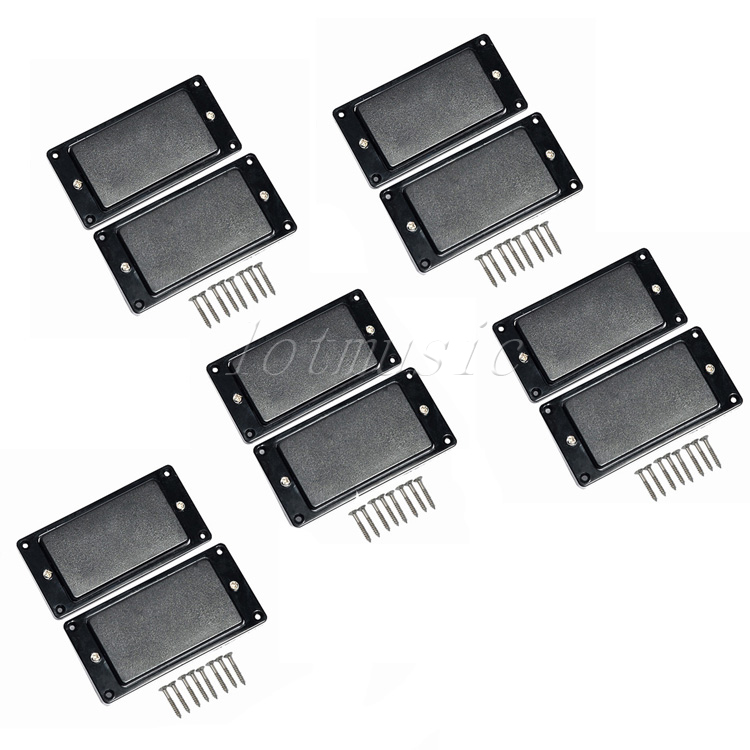 5Sets Sealed Humbucker Pickup For Electric Guitar Replacement Parts Black kmise electric guitar pickups humbucker double coil pickup bridge neck set guitar parts accessories black with chrome gold frame
