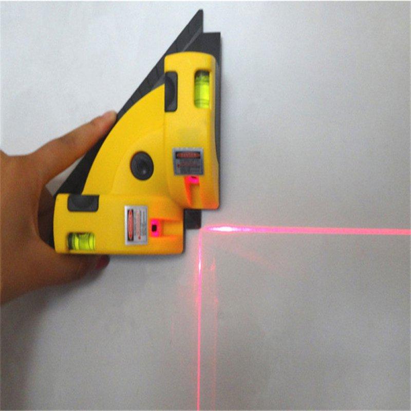 Angle droit 90 Degrés Vertical Horizontal Laser Instrument De Mesure Verticale Calibrateur Niveau Maison BRICOLAGE Mesure Outil